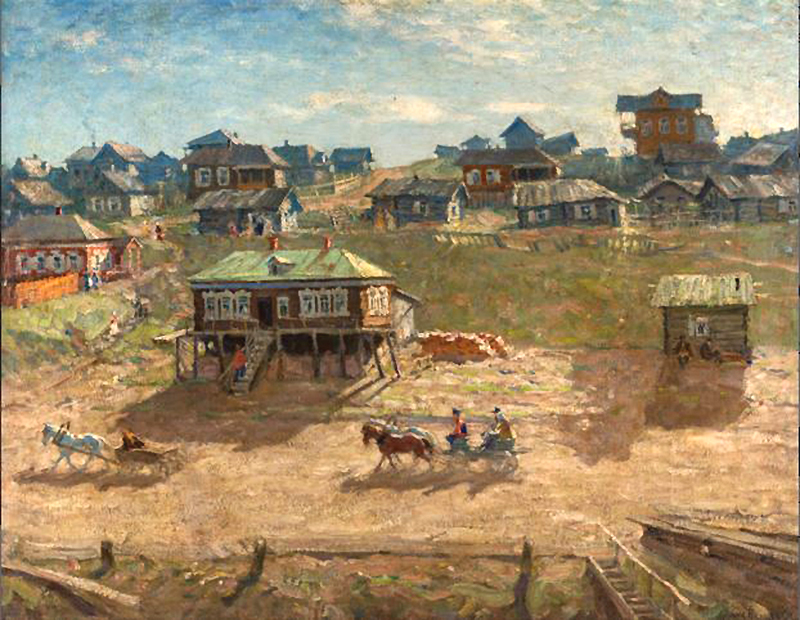 Лаховский - Деревня на берегу